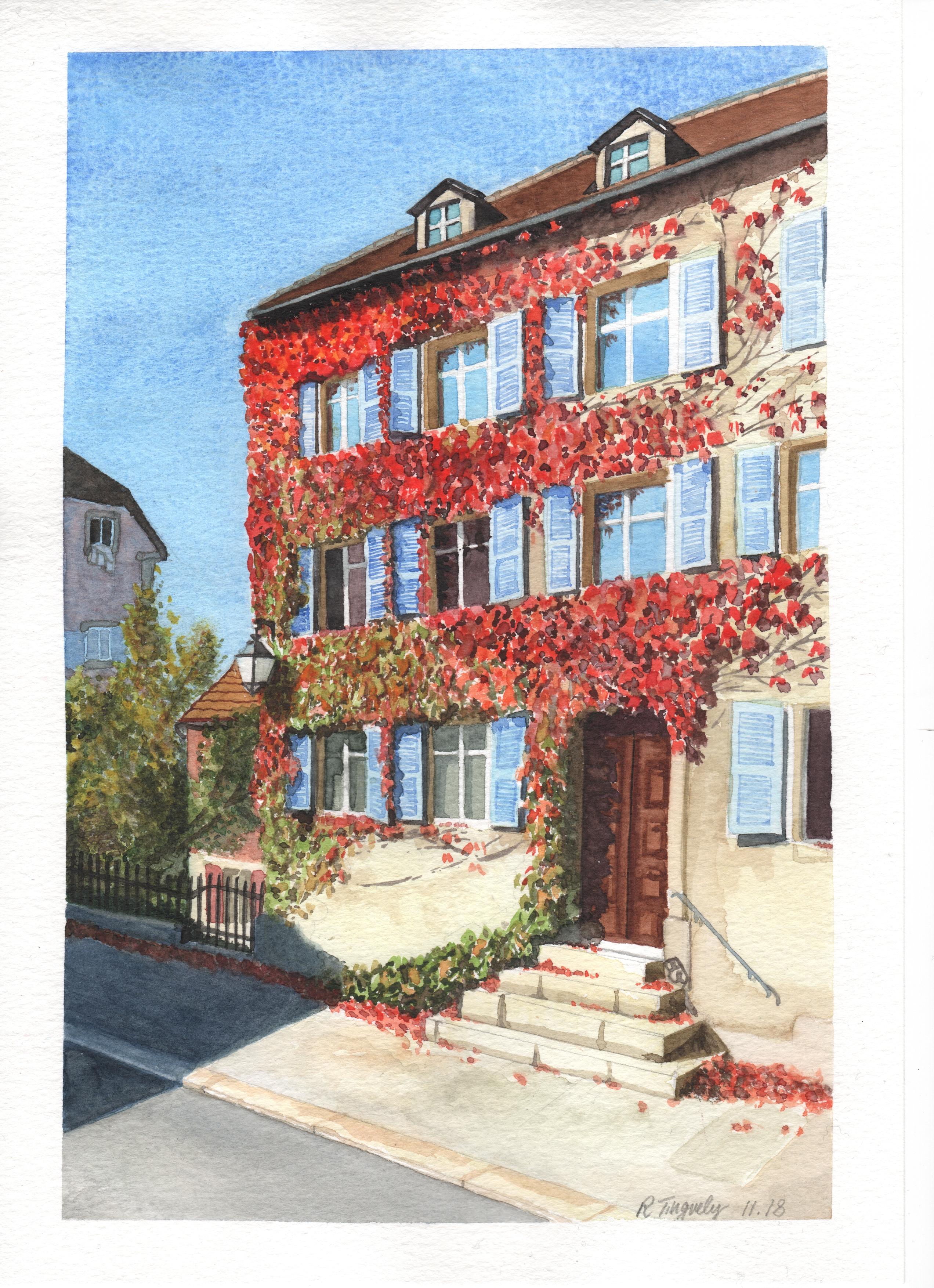Maison avec Ivy, La Chaux-de-Fonds
