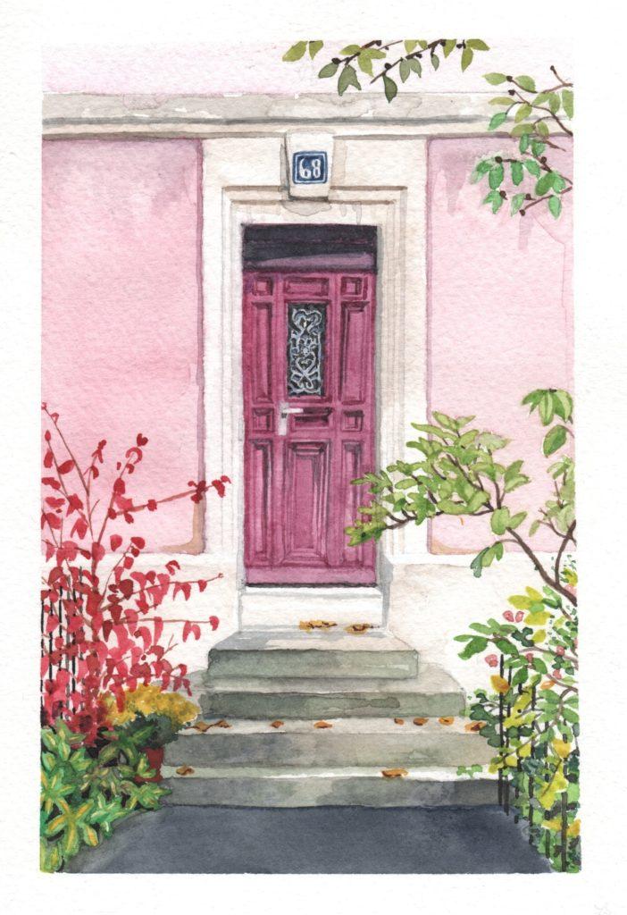 Porte rose et purpre de La Chaux-de-Fonds